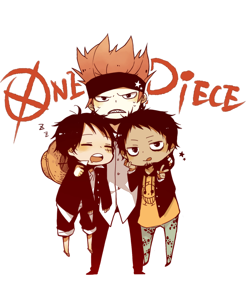 Trafalgar Law Monkey D Luffy Eustass Kid