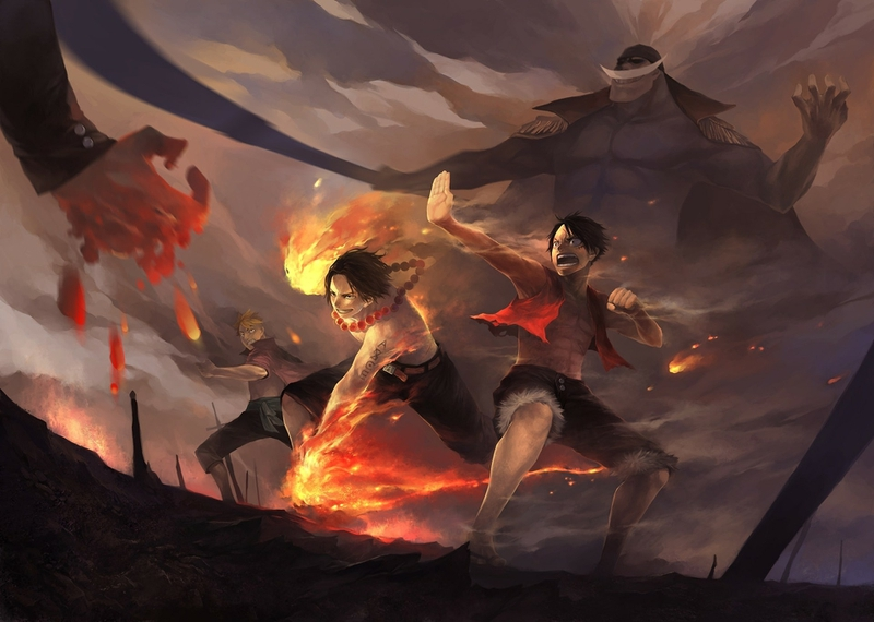 one piece luffy artwork flame 1920x1370 wallpaper_www.wallpaperhi.com_46