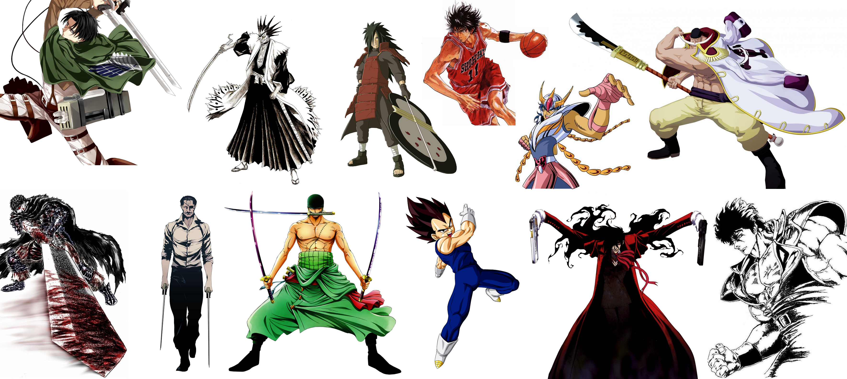Anime Character Design Tropes : Who s the most badass character in history of manga