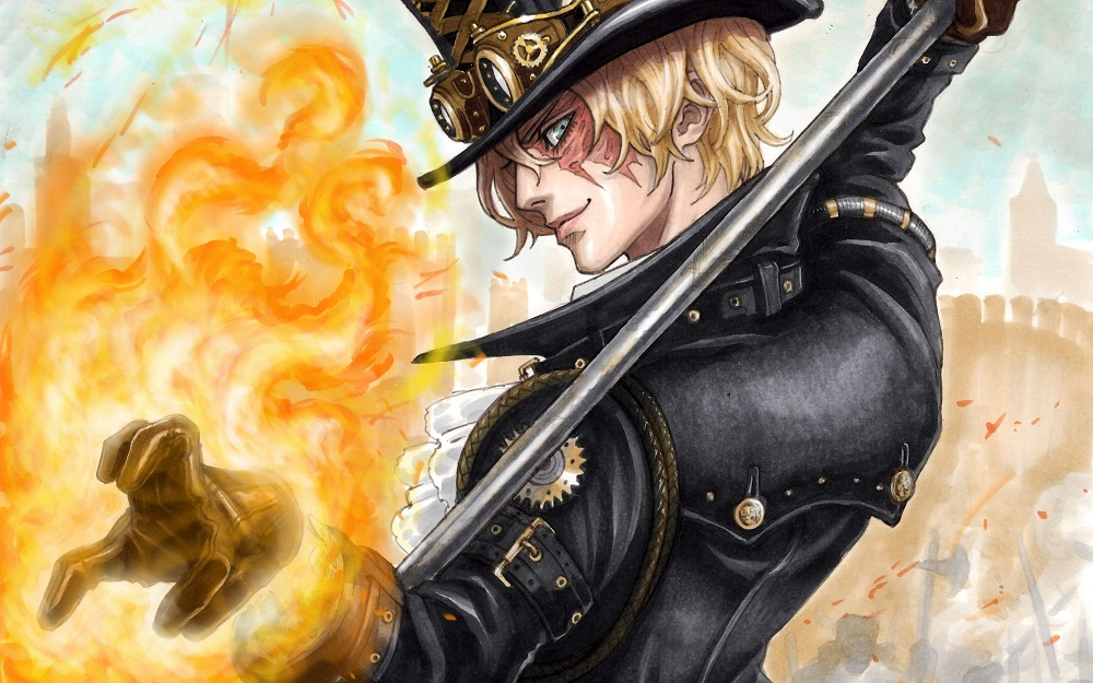 On The Cover Of Chapter 596 Sabo Was Shown As A Young Man He Portrayed Tall And Muscular Like Ace Still Wearing Same Attire Wore